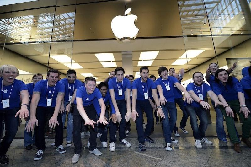 Đồng phục xanh của Apple